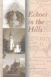 Cover of: Echoes in the Hills