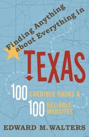 Cover of: Finding Anything About Everything in Texas | Edward Walters, Edward M. Walters