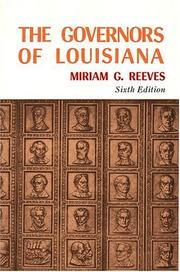 Cover of: The Govenors Of Louisiana