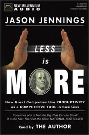 Cover of: Less Is More |