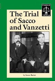 Cover of: Famous Trials - The Trial of Sacco and Vanzetti (Famous Trials)