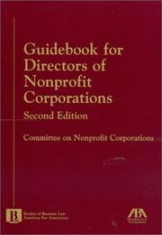 Cover of: Guidebook for directors of nonprofit corporations |
