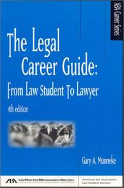 Cover of: The legal career guide