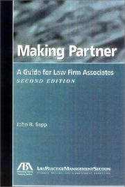 Cover of: Making partner | John R. Sapp