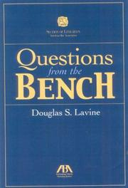 Cover of: Questions from the bench | Douglas S. Lavine