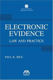 Cover of: E-evidence: the practice of paperless proof
