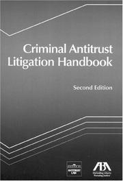 Cover of: Criminal Antitrust Litigation Handbook