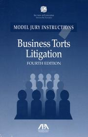 Cover of: Business Torts Litigation