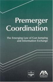 Cover of: Premerger Coordination