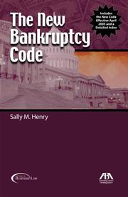 Cover of: The new Bankruptcy Code |