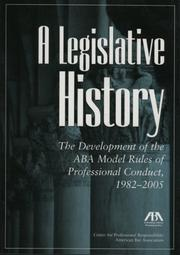 Cover of: A Legislative History