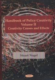 Cover of: The Handbook of Policy Creativity