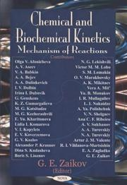 Cover of: Chemical and Biochemical Kinetics