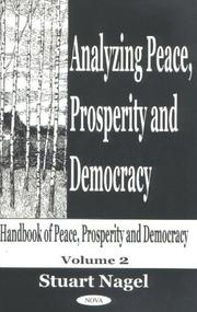 Cover of: Analyzing Peace, Prosperity and Democracy