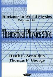Cover of: Horizons in World Physics | Henk F. Arnolds