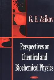 Cover of: Perspectives on Chemical and Biochemical Physics