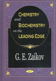 Cover of: Chemistry and Biochemistry on the Leading Edge