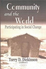 Cover of: Community and the World