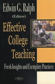 Cover of: Effective college teaching |