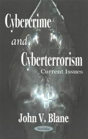 Cover of: Cybercrime and Cyberterrorism