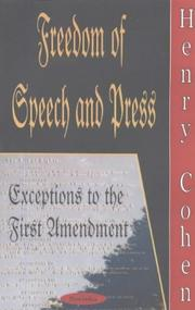 Freedom of speech and press by Henry Cohen