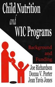 Cover of: Child nutrition and WIC programs | Joe Richardson