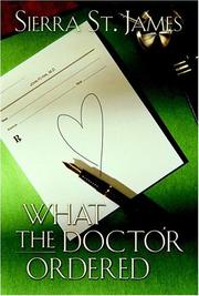 Cover of: What the doctor ordered