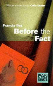 Cover of: Before the Fact (Pan Classic Crime)
