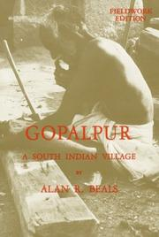 Cover of: Gopalpur, a south Indian village | Alan R. Beals