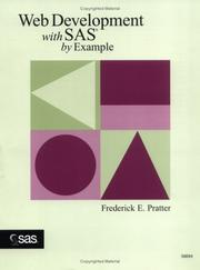 Web development with SAS by example by Frederick E. Pratter