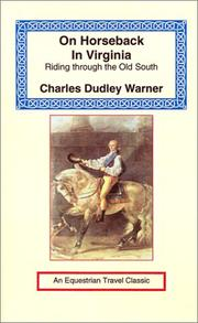 Cover of: On Horseback in Virginia (Equestrian Travel Classics)
