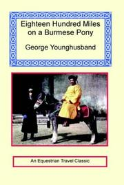 Cover of: 1800 Miles On A Burmese Pony | George Younghusband