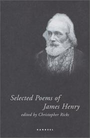 Cover of: Selected poems of James Henry