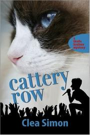 Cover of: Cattery Row [LARGE TYPE] (A Theda Krakow Mystery)