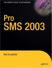 Cover of: Pro SMS 2003 | Rod Kruetzfeld