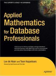 Cover of: Applied Mathematics for Database Professionals (Expert