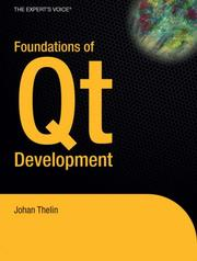 Cover of: Foundations of Qt Development | Johan Thelin