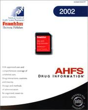 Ahfs Drug Information 2002 by American Society of Health-System Pharmacists