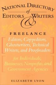 Cover of: National directory of editors & writers