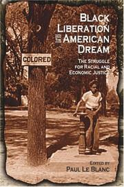Cover of: Black liberation and the American dream