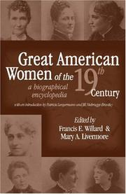 Cover of: Great American Women of the 19th Century |