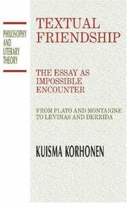 Cover of: Textual friendship | Kuisma Korhonen