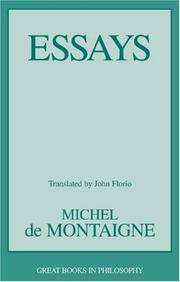 Cover of: Essays (Great Books in Philosophy) | Michel de Montaigne