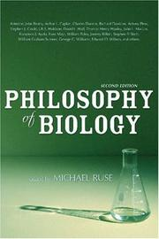 Cover of: The philosophy of biology