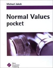 Cover of: Normal Values Pocket | Michael Jakob