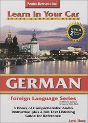 Cover of: German Level Three (Learn in Your Car)