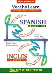 Cover of: Vocabulearn Spanish/English Level 3 (Vocabulearn Music-Enhanced)