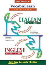 Cover of: Vocabulearn Italian/Inglese