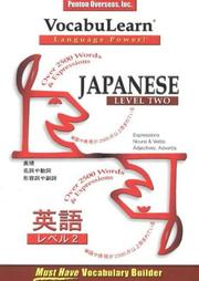 Cover of: Vocabulearn Japanese