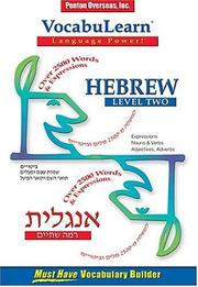 Cover of: Vocabulearn Hebrew
